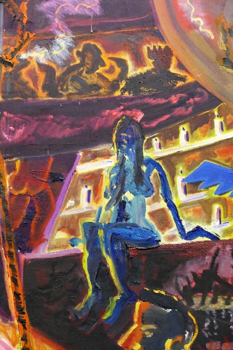 Jörg Immendorff Detail Es gibt keine Hölle Foto Andrea Matzker P4050424