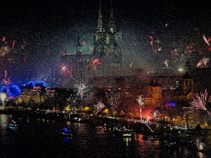 Köln 1 Silvesterfeuerwerk 2019 Foto Andrea Matzker P2470929a
