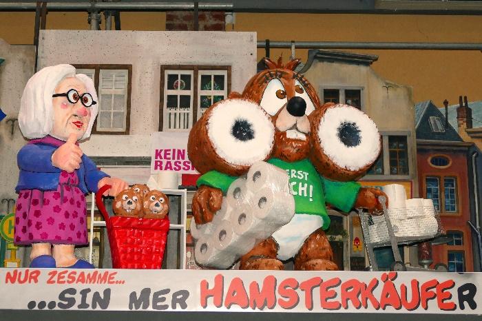 Kölner Rosenmontagszug 2021 Die Hamsterkäufe R Foto Andrea Matzker P4900414 (2)