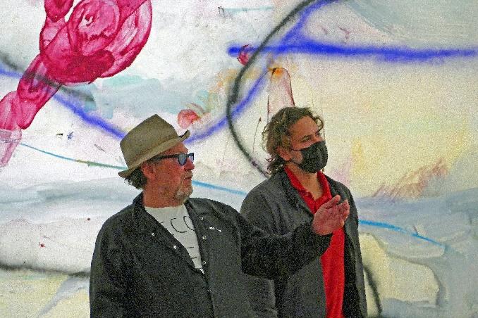julian schnabel mit seinem sohn cy in hagen foto andrea matzker p4930945