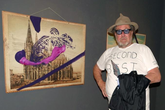 julian schnabel mit seinem werk untitled cologne cathedral 2016 foto andrea matzker p4930892