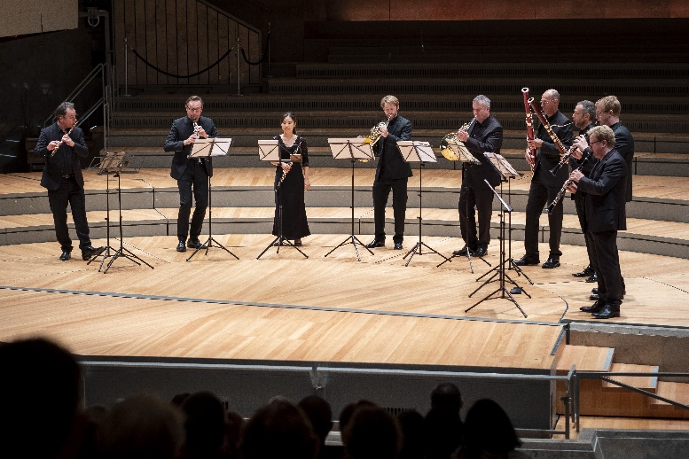 bläserkonzert, welcome back week 22.08.2021, philharmonie, foto lena laine