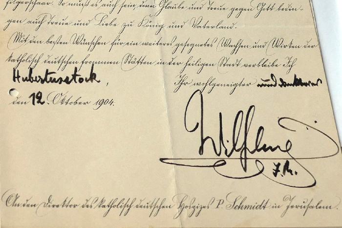 kölarchiv 3 das dokument von kaiser wilhelm ii foto andrea matzker